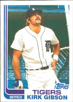 1982 Topps - Blackless #105 Kirk Gibson Front