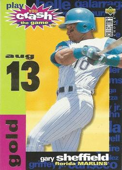 1995 Collector's Choice - Crash the Game Gold #CG18B Gary Sheffield  Front