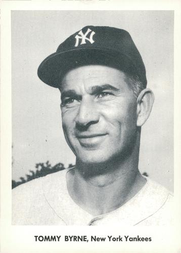 1957 Jay Publishing New York Yankees World Series #NNO Tommy Byrne Front