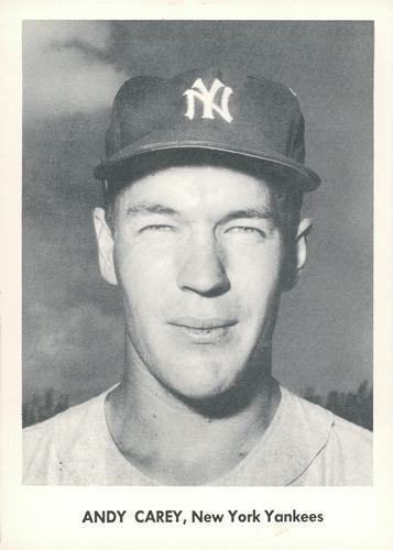 1957 Jay Publishing New York Yankees World Series #NNO Andy Carey Front