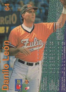 1995-96 Line Up Venezuelan Winter League #64 Danilo Leon Back