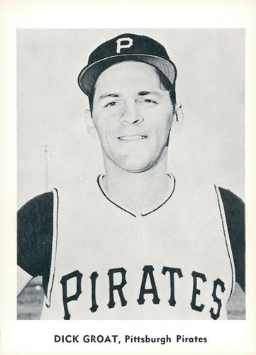 1960 Jay Publishing Pittsburgh Pirates Set A #NNO Dick Groat Front