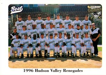 1996 Best Hudson Valley Renegades #30 Hudson Valley Renegades Front