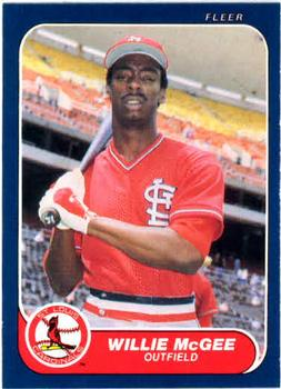 1986 Fleer #42 Willie McGee Front