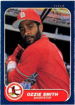 1986 Fleer #46 Ozzie Smith Front