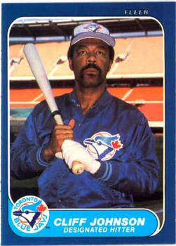 1986 Fleer #62 Cliff Johnson Front
