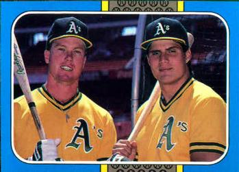 1987 Donruss Highlights #40 Mark McGwire / Jose Canseco Front