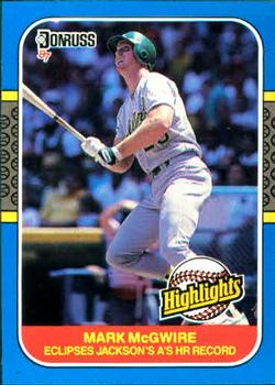 1987 Donruss Highlights #46 Mark McGwire Front