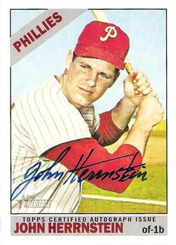 2015 Topps Heritage - Real One Autographs #ROA-JH John Herrnstein Front