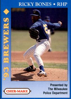 1993 Milwaukee Brewers Police #2 Ricky Bones Front