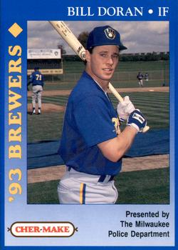 1993 Milwaukee Brewers Police #5 Bill Doran Front