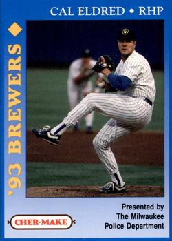 1993 Milwaukee Brewers Police #6 Cal Eldred Front