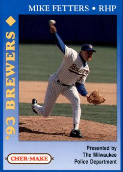 1993 Milwaukee Brewers Police #7 Mike Fetters Front
