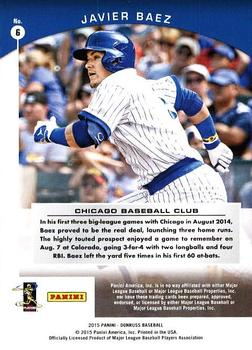 2015 Donruss - Donruss Preferred Bronze #6 Javier Baez Back