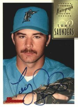 1997 Bowman - Certified Black Ink Autographs #CA71 Tony Saunders Front