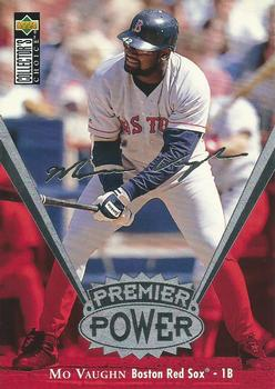 1997 Collector's Choice - Premier Power Jumbo 5x7 #PP8 Mo Vaughn Front