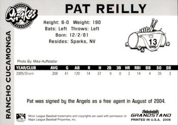 2006 Grandstand Rancho Cucamonga Quakes #10 Pat Reilly Back