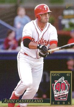 2006 MultiAd Reading Phillies #4 John Castellano Front