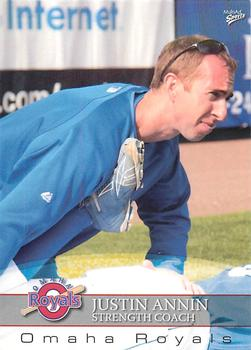 2008 Multi-Ad Omaha Royals #2 Justin Annin Front