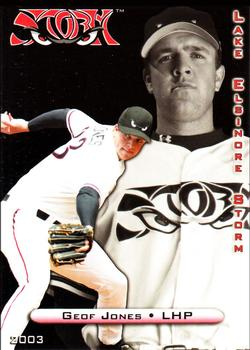 2003 Grandstand Lake Elsinore Storm #NNO Geoff Jones Front