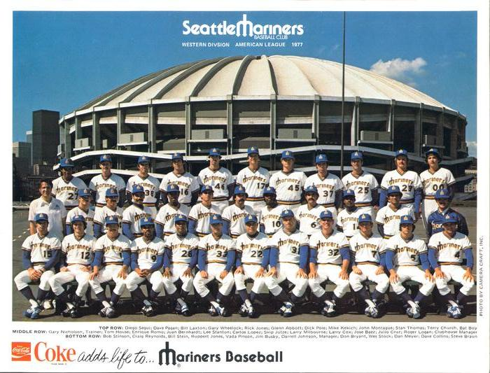 1977 Coca-Cola Seattle Mariners Team Photo #NNO Seattle Mariners Front