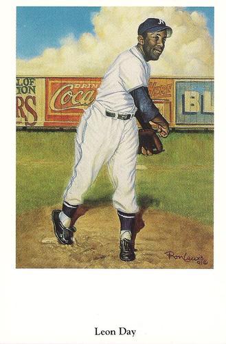 1991 Ron Lewis Negro Leagues Postcards #6 Leon Day Front