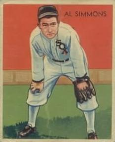 1934-36 National Chicle Diamond Stars (R327) #2 Al Simmons Front