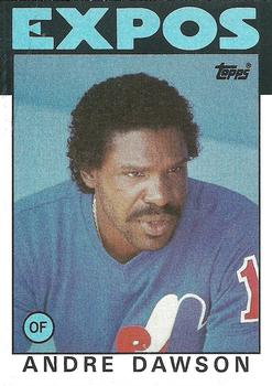 1986 Topps #760 Andre Dawson Front
