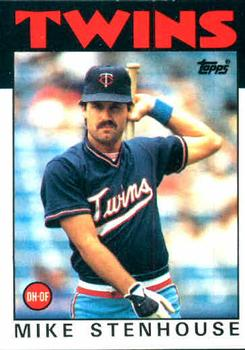 1986 Topps #17 Mike Stenhouse Front