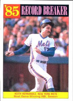 1986 Topps #203 Keith Hernandez Front
