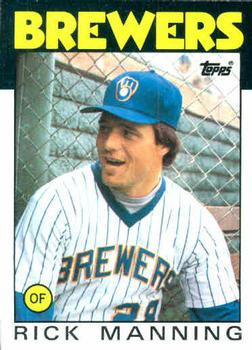 1986 Topps #49 Rick Manning Front