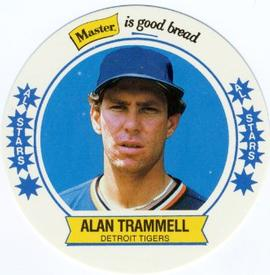 1989 Master Bread Discs #4 Alan Trammell Front