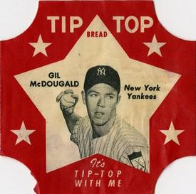 1952 Tip Top Bread Labels #NNO Gil McDougald Front