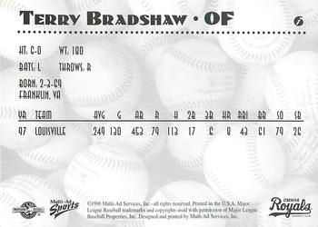 1998 Multi-Ad Omaha Royals #6 Terry Bradshaw Back