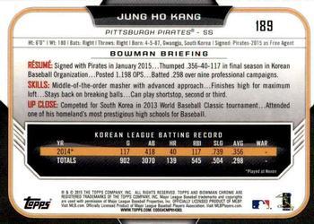 2015 Bowman/'s Best Refractors #49 Jung Ho Kang Pittsburgh Pirates