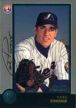 1998 Bowman Chrome #437 Carl Pavano Front