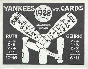 1967 Laughlin World Series #25 1928 Yankees vs Cards Front