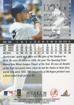 1998 Pinnacle - Museum Collection #PP57 Derek Jeter Back