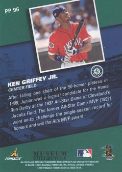1998 Pinnacle - Museum Collection #PP96 Ken Griffey Jr. Back