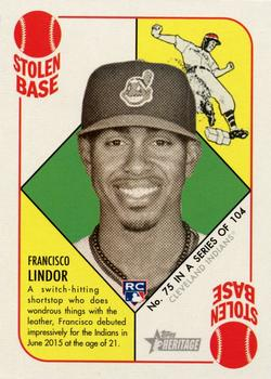 2015 Topps Heritage '51 #75 Francisco Lindor Front