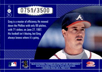 1998 Donruss Elite - Craftsmen #5 Greg Maddux Back