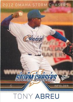 2012 MultiAd Omaha Storm Chasers #2 Tony Abreu Front