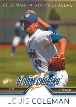 2012 MultiAd Omaha Storm Chasers #6 Louis Coleman Front