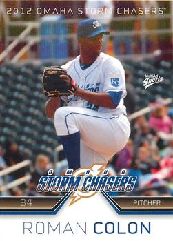 2012 MultiAd Omaha Storm Chasers #7 Roman Colon Front