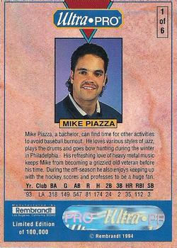 1994 Rembrandt Ultra Pro Mike Piazza Baseball Gallery