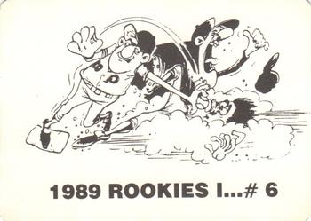 1989 Broder Rookies I (Unlicensed) #6 Matt Williams Back