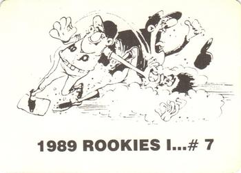 1989 Broder Rookies I (Unlicensed) #7 Randy Johnson Back