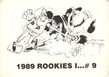 1989 Broder Rookies I (Unlicensed) #9. Randy Velarde Back