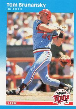 1987 Fleer #537 Tom Brunansky Front