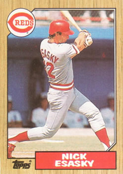 1987 Topps #13 Nick Esasky Front